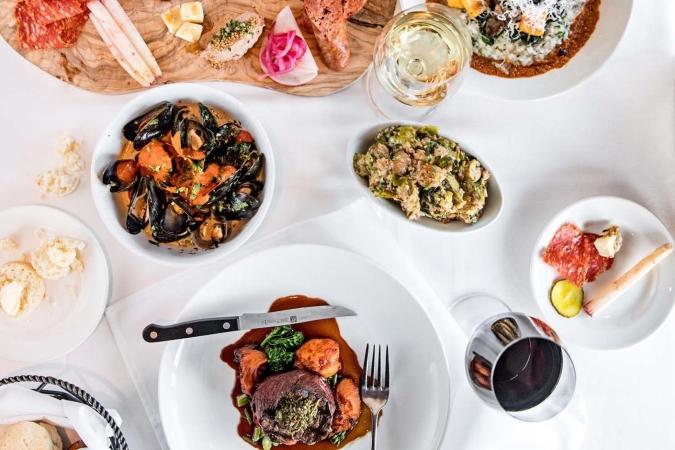 A sampling of menu items from South City Kitchen Vinings in Smyrna, GA