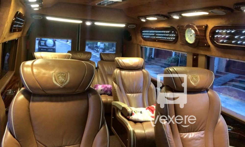 Nội thất xe Cửa Ông Limousine đi Quảng Ninh từ Hà Nội
