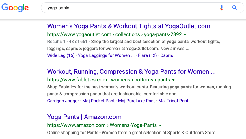 search results for yoga pants