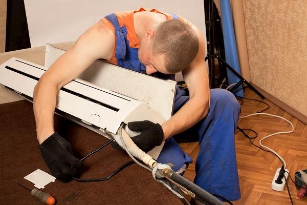 чистка кондиционера с демонтажом