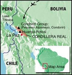 Bolivia, Huayana Potosi - Map