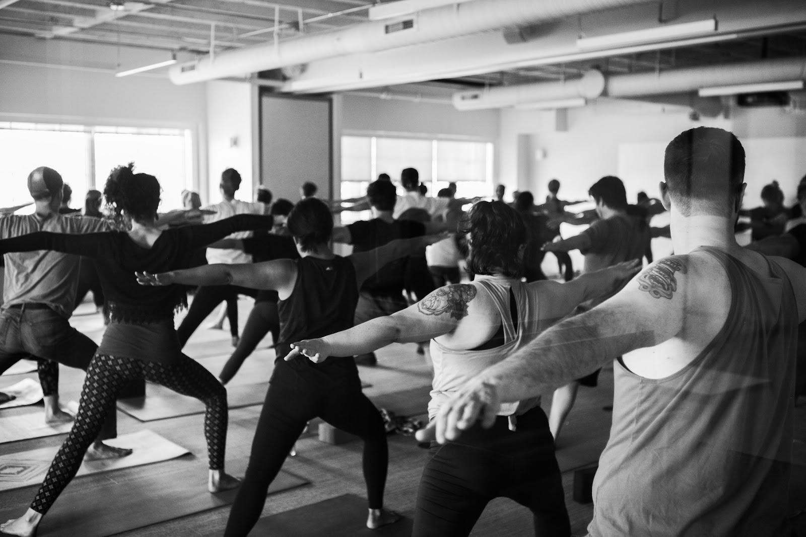 A Zest yoga class