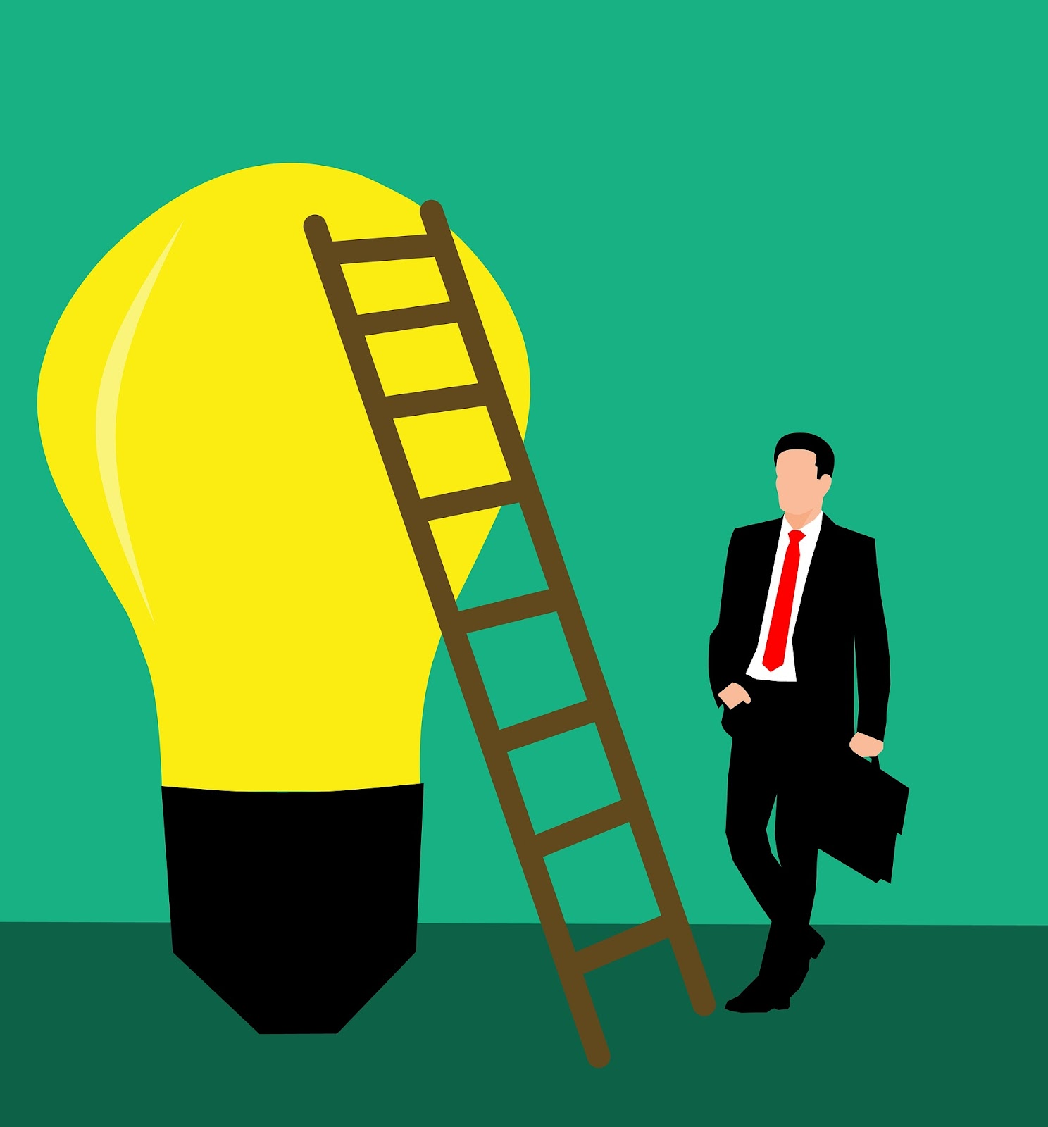 illustrations/stairs-idea-bulb-business-man-steps to business