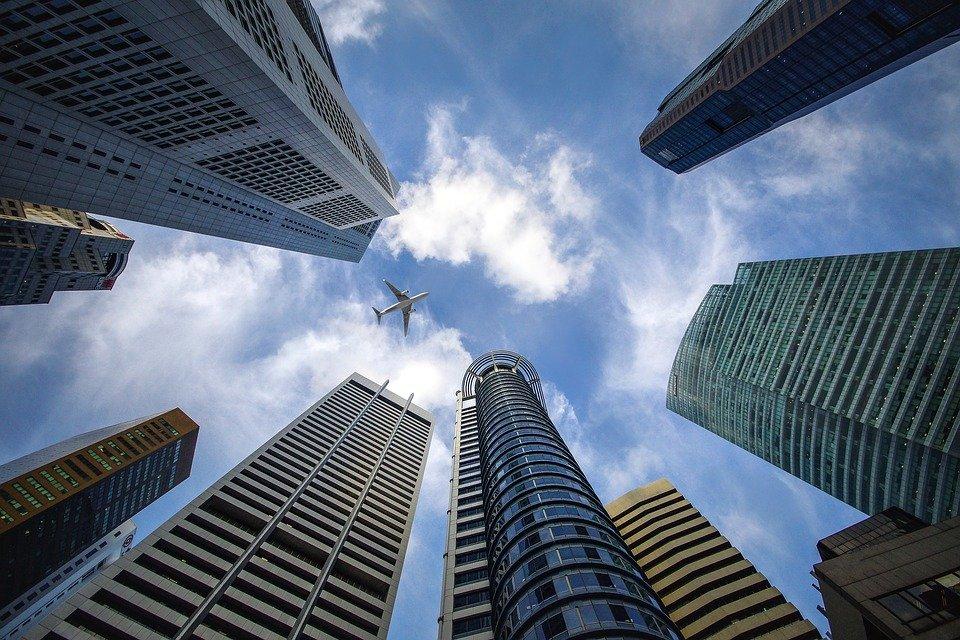 Skyscraper, Singapore, Sky, Blue, Building