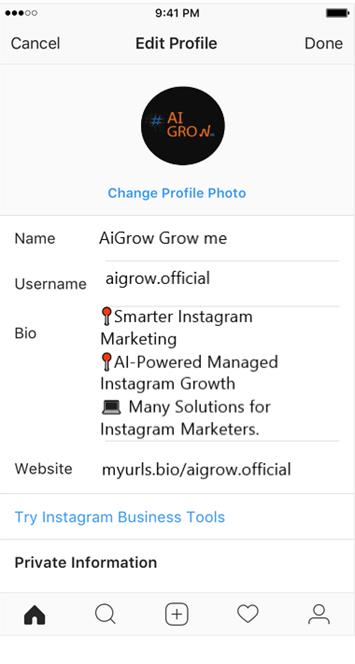 link in Instagram bio