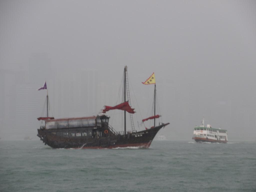 Junk Boat at Victoria Harbour Hong Kong