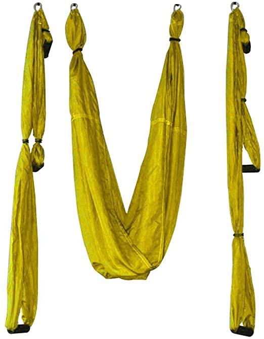 PLANET-OCEAN Yoga Swing Inversion Sling Aerial Yoga Hammock (See Color Options)