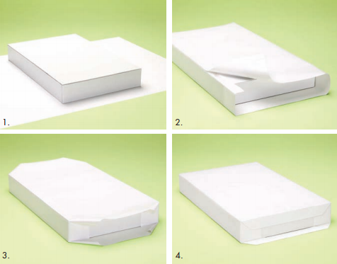 How to wrap a rectangular box