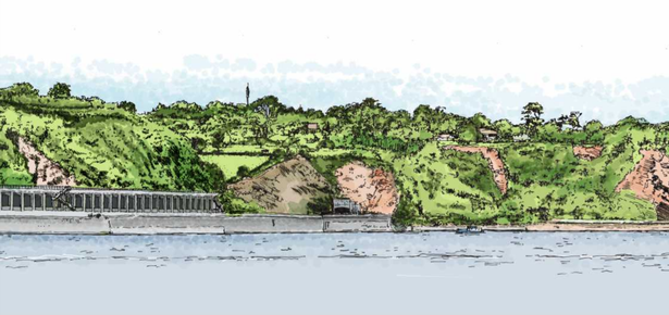 Artist impression for the Parsons Tunnel North rockfall shelter plans