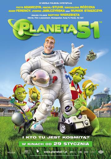 Polski plakat filmu 'Planeta 51'
