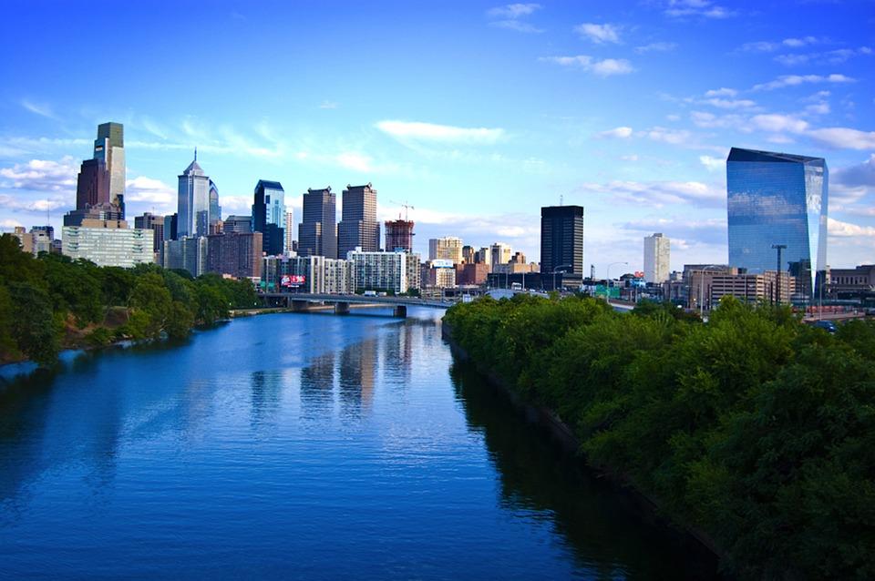 Philadelphia, City, Downtown, Building, Skyline