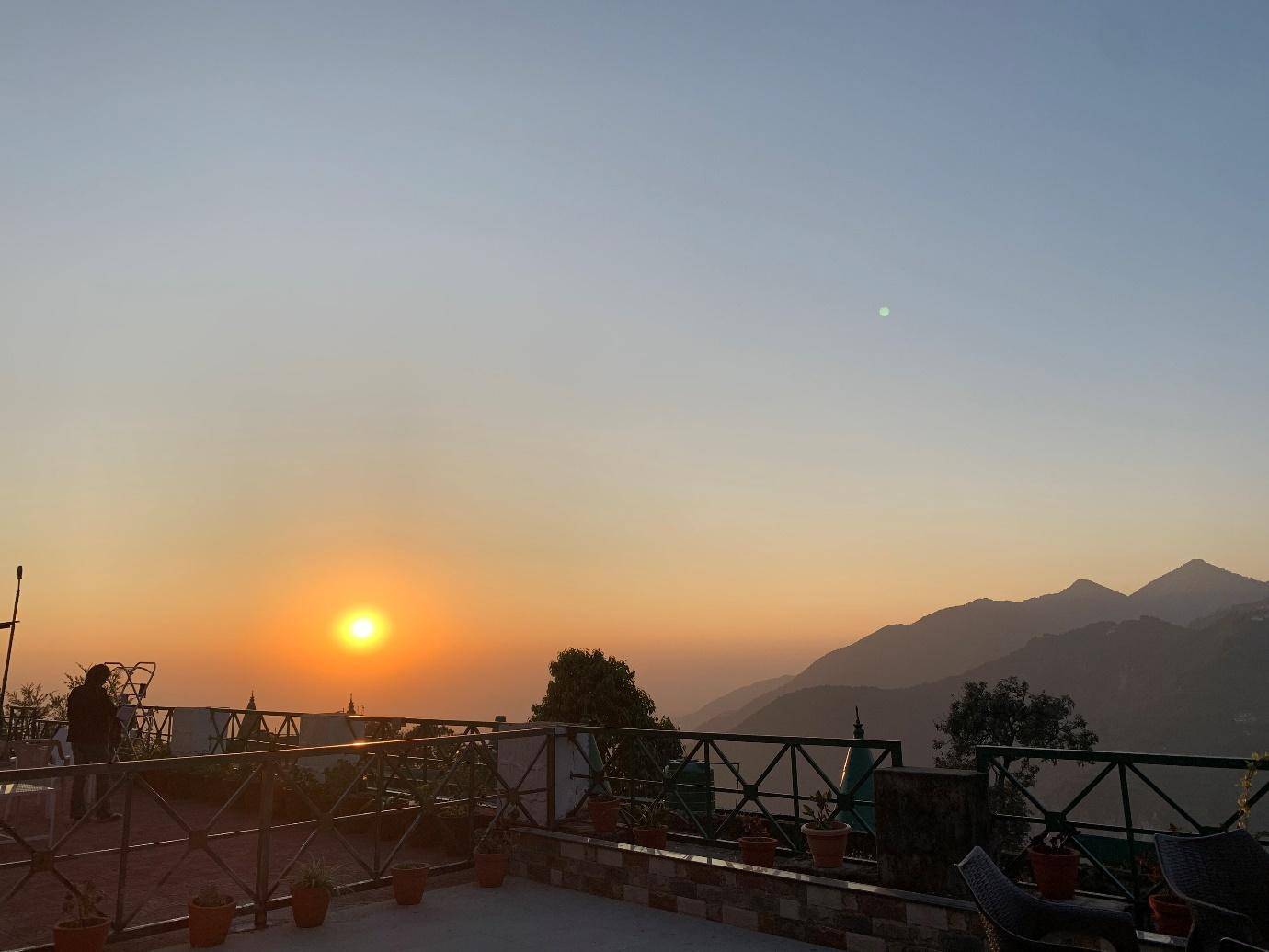 sunset travelling