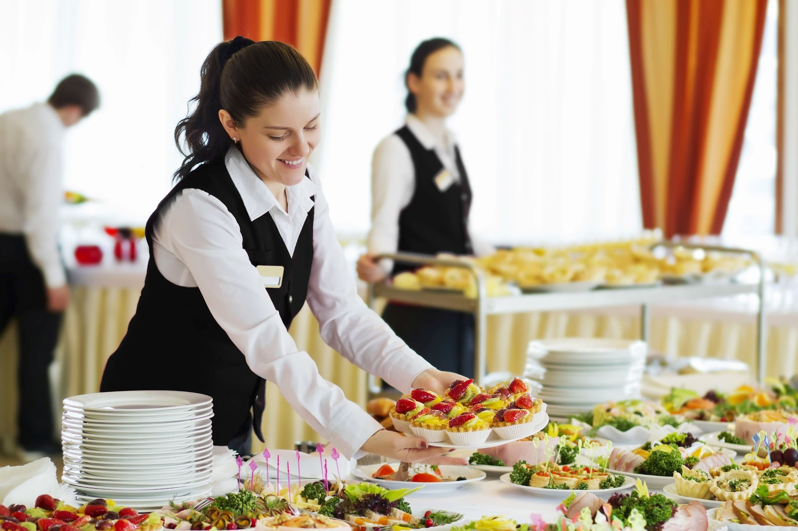 Hotel catering staff