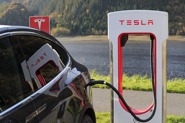 A photo of Tesla Model X charging.