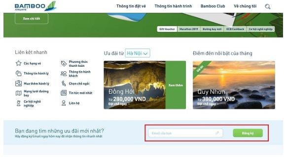 Cách lựa chọn và đặt vé máy bay Bamboo giá rẻ