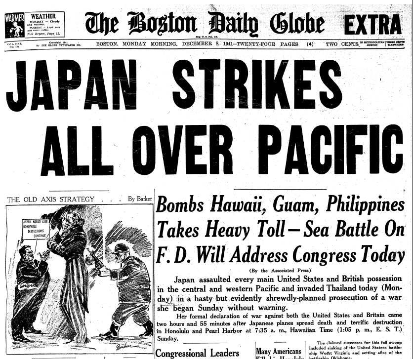 On the Front Page: A Look Back at Pearl Harbor   The New
