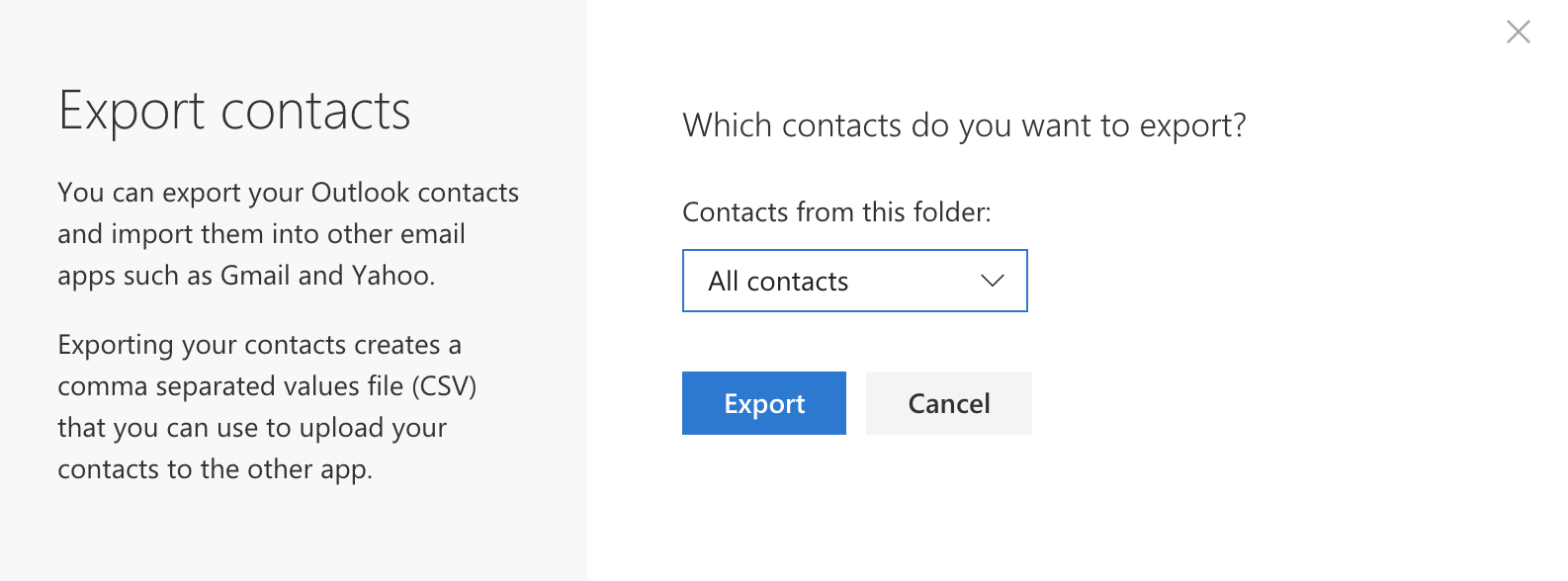 I'm leaving the district  How do I export email addresses