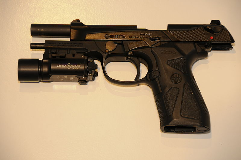 Pistol with Pistol Light attached
