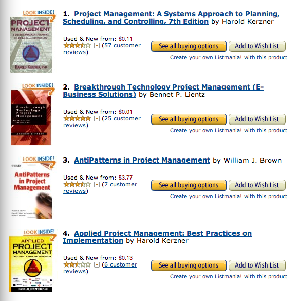 Amazon.com: Best Books on Project Management 2014-05-06 15-41-17