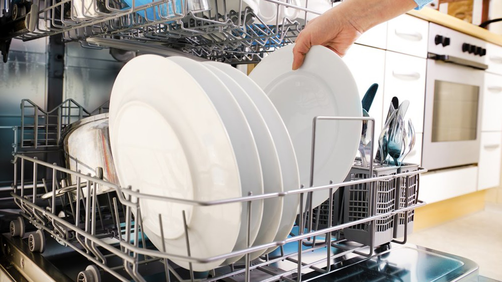A Homeowner Using an Energy Efficient Dishwasher