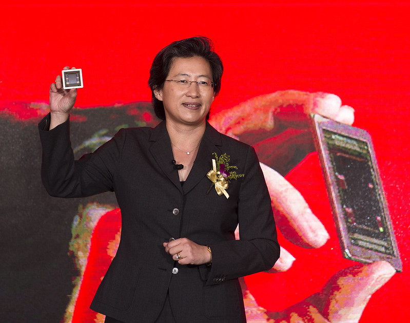 AMD's Chief Executive Officer, Lisa Su in 2015. Su flew to China to make a deal with the Party's Military Civil Fusion apparatus in a desperate bid to resurrect the dying company in 2014.