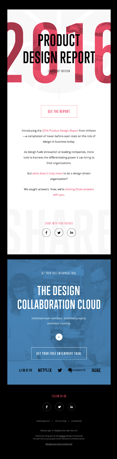 Invision email