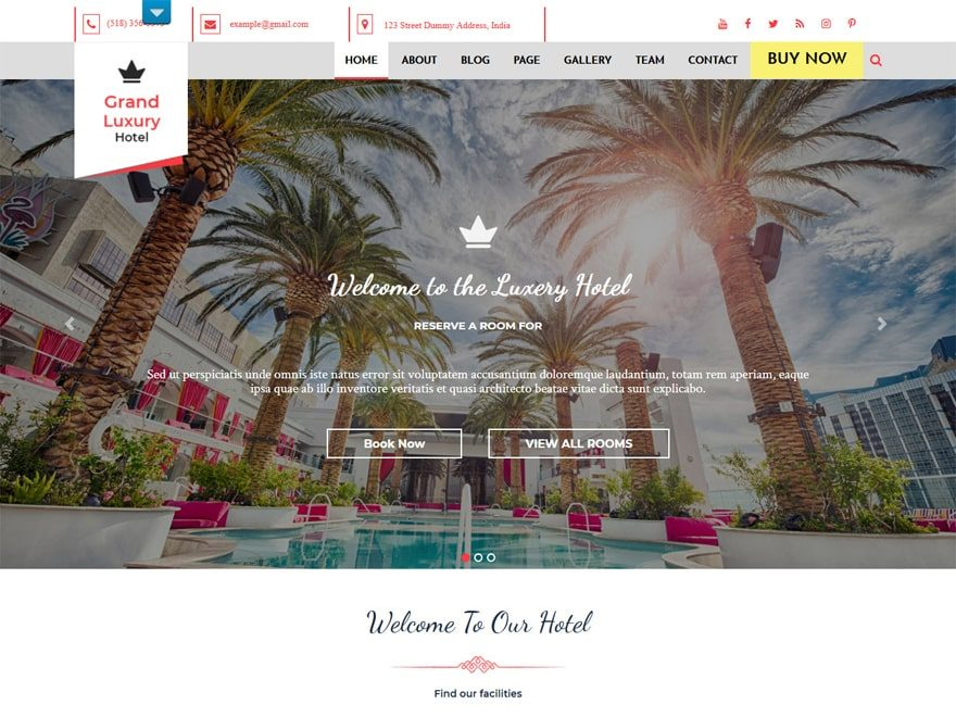 Hotel Resort - WordPress Hotel and Resort Themes