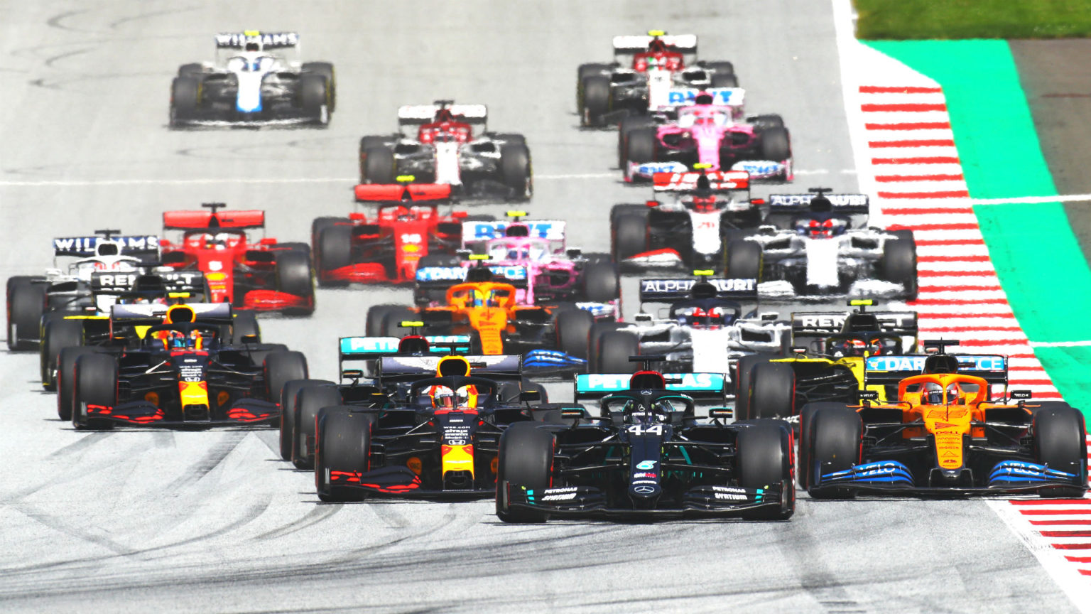 The 2020 British Grand Prix at Silverstone. Silverstone was paid by Liberty Media to host the event due to coronavirus.