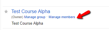 Manage Group Members