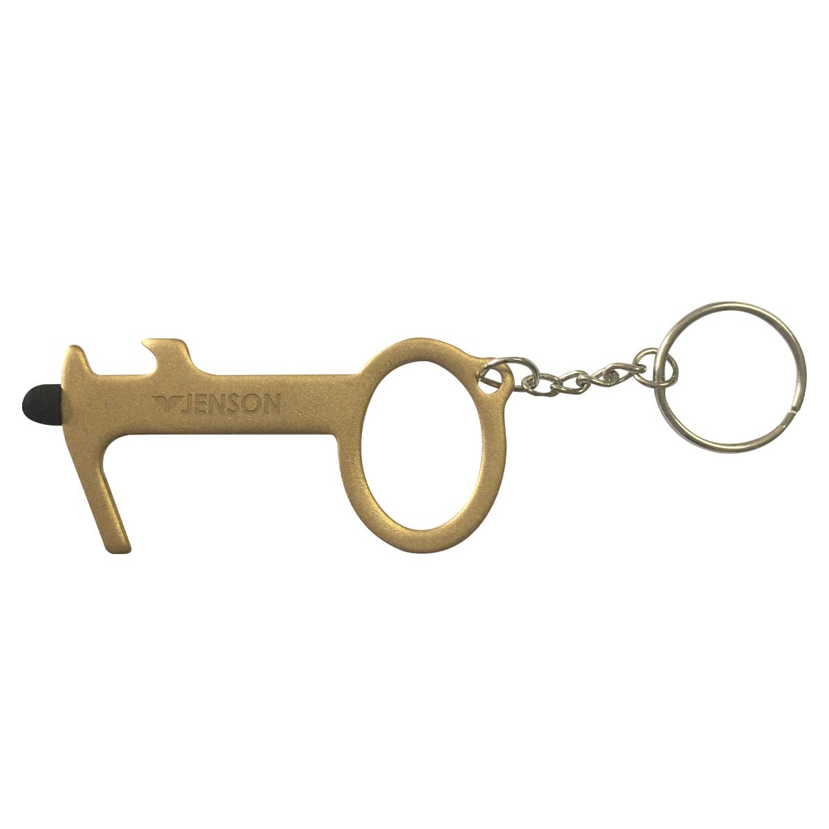 Brass Door Opener With Bottle Opener & Stylus