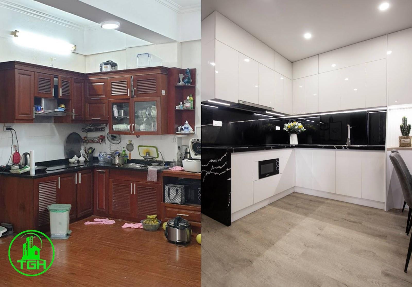 trước và sau khi sửa chữa
