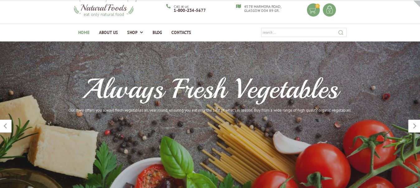 Organic woocommerce themes natural foods
