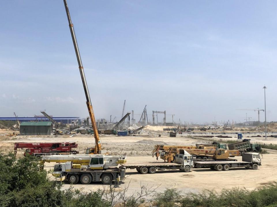 Nhiều dự án đang triển khai thi công, xây dựng tại KKT Dung Quất