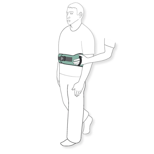 Diagram of a transfer belt in use