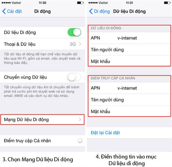 Hướng dẫn khắc phục iPhone XS lỗi 3G không truy cập được mạng