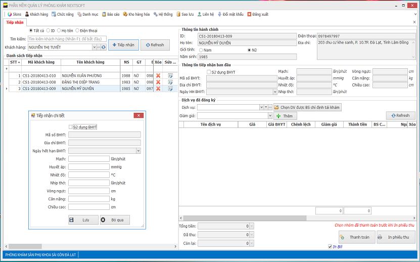 Phần mềm quản lý phòng khám NEXTSOFT