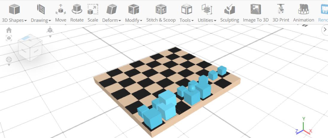 customized bauhaus chess set