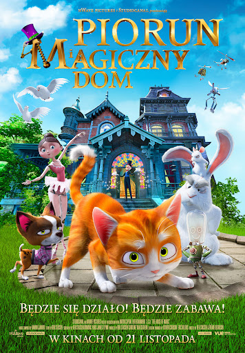 Polski plakat filmu 'Piorun i Magiczny Dom'
