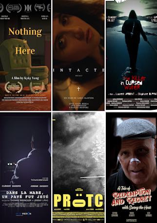 Les 6 meilleurs courts-métrages parmi une cinquantaine qui ont postulés à notre festival !