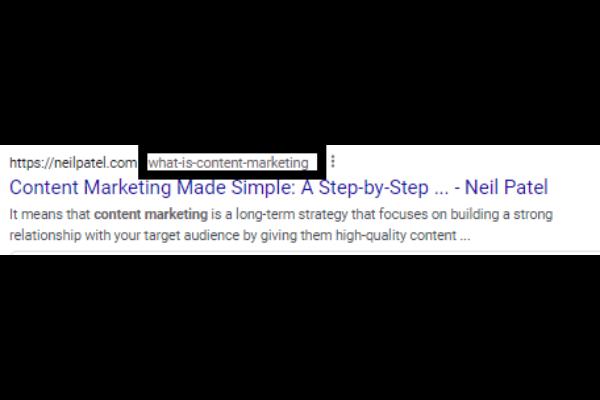 url slug example for seo marketing
