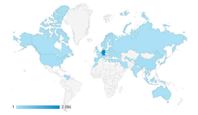 google analytics dashboard geo presence