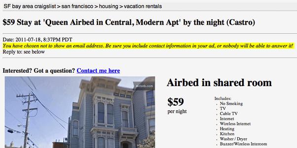 Airbnb Craigslist Hack