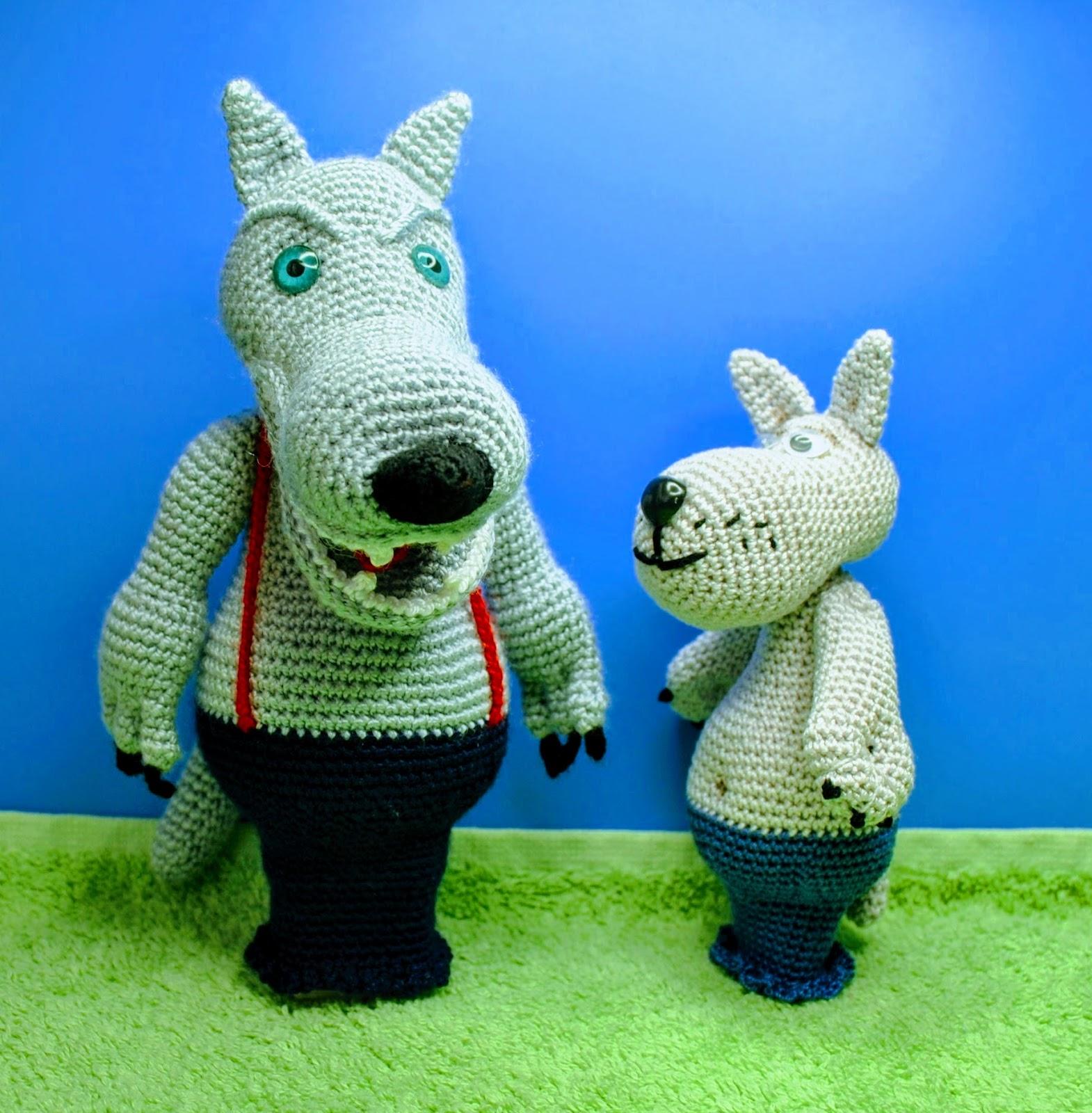 Ella's Crocheted Toys: Two Wolfs Free Crochet Pattern