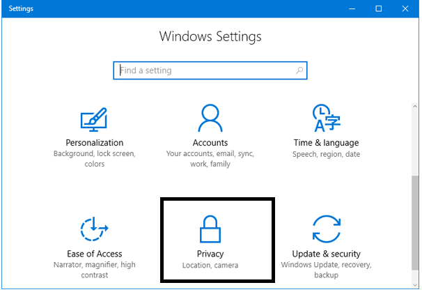 Enable or Disable Camera in Windows 10