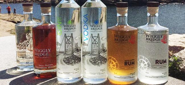 The Wiggly Bridge Distillery Family of Craft Spirits