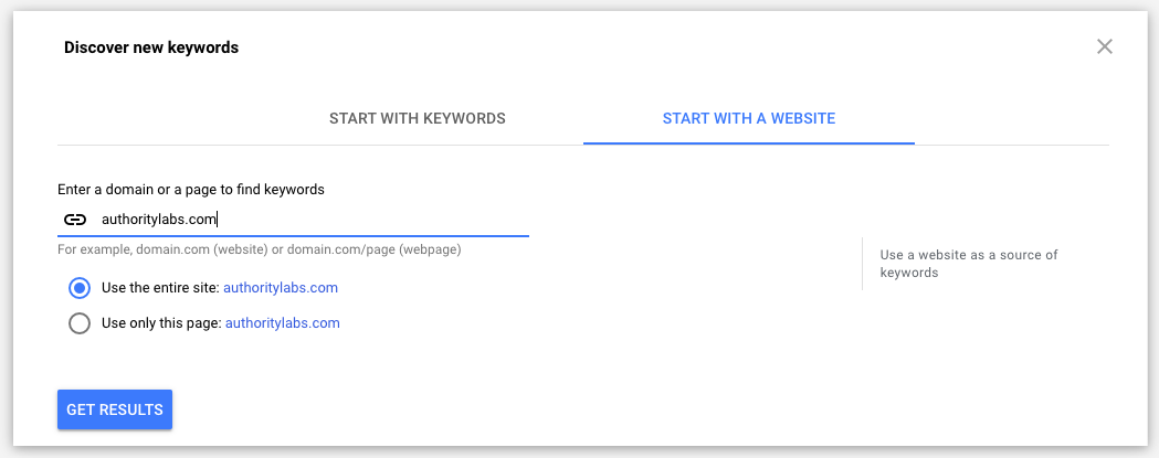 Discover new keywords using Google Ads Keyword Planner