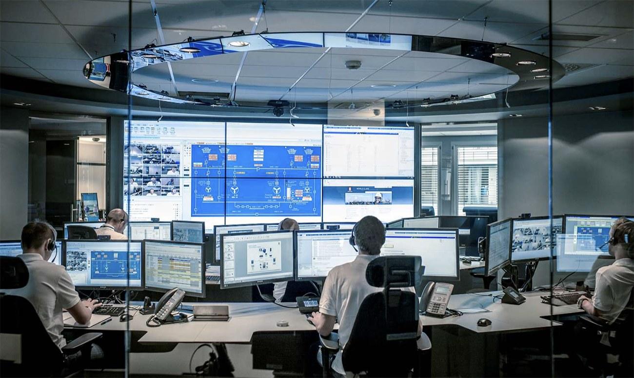 imagem do centro de operações do navio Yara Birkeland