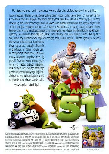 Tył ulotki filmu 'Planeta 51'