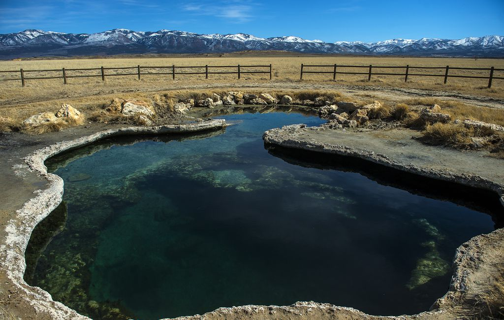 A view of Meadow Hot Springs