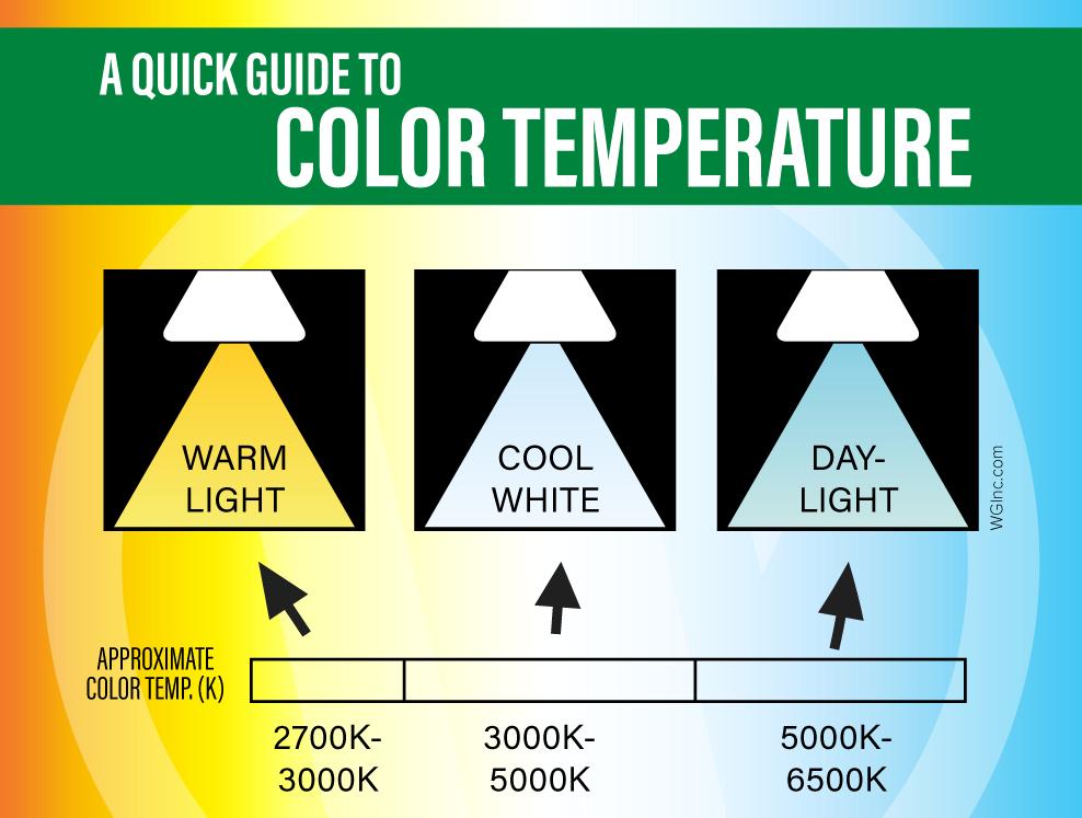 Perbedaan Lampu Daylight, Cool White, dan Warm White - source: lightbulbs-direct.com